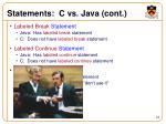 statements c vs java cont
