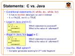 statements c vs java
