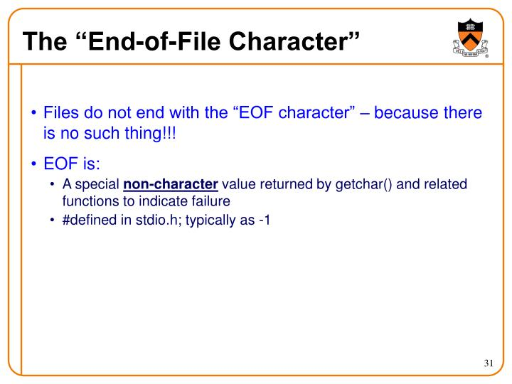 "The ""End-of-File Character"""