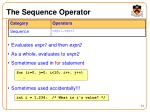 the sequence operator
