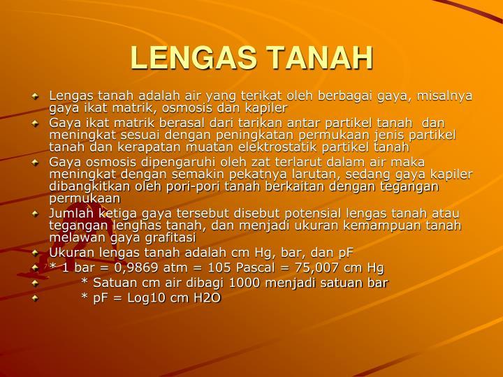 LENGAS TANAH