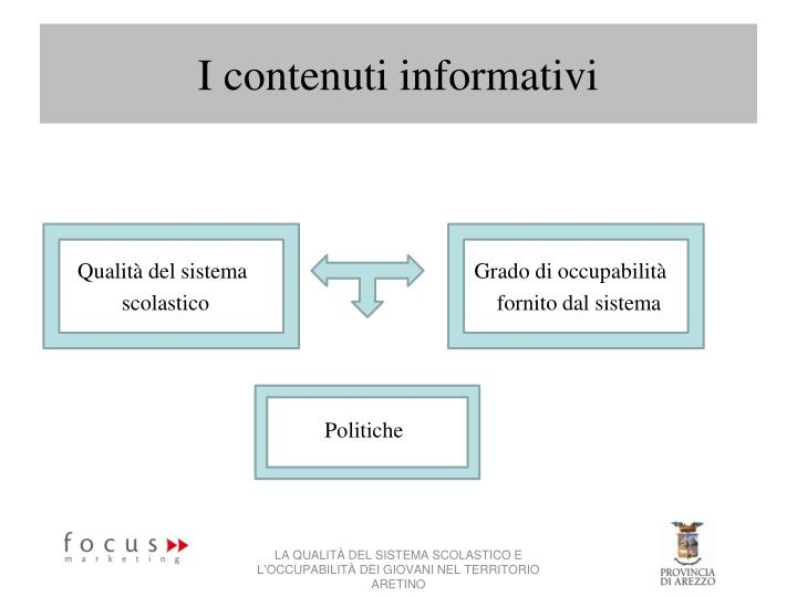 I contenuti informativi