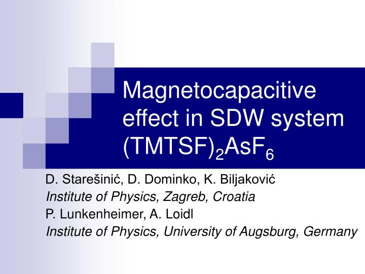 magnetocapacitive effect in sdw system tmtsf 2 asf 6