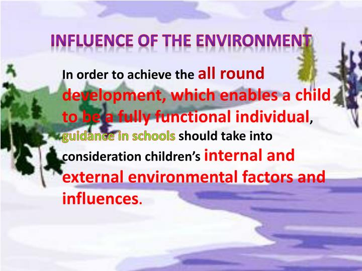 influence of the external environment on