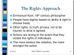 the rights approach