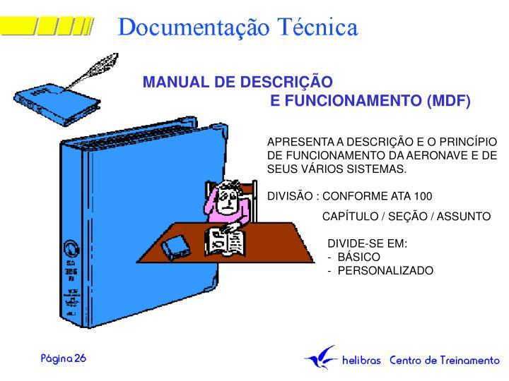 MANUAL DE DESCRIÇÃO