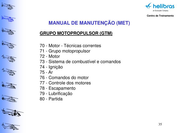 MANUAL DE MANUTENÇÃO (MET)