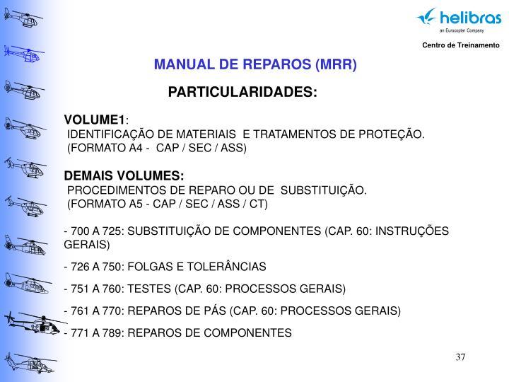 MANUAL DE REPAROS (MRR)