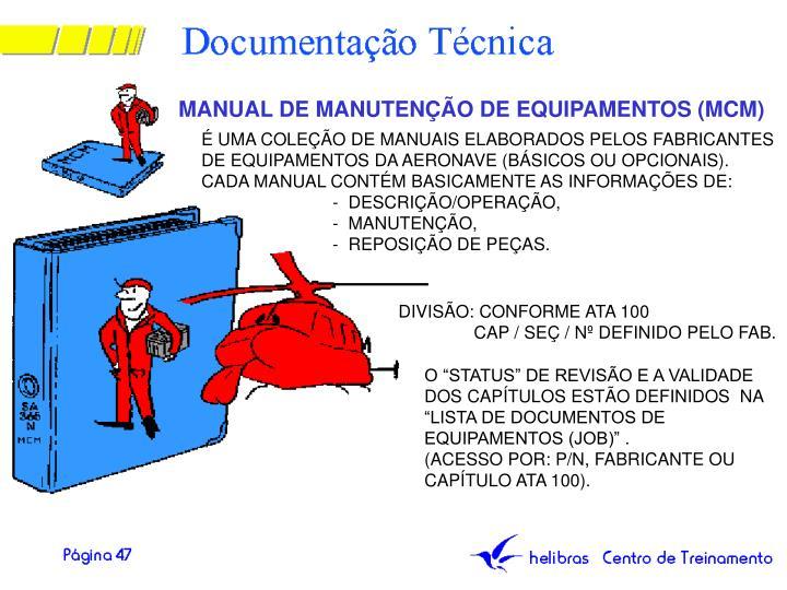 MANUAL DE MANUTENÇÃO DE EQUIPAMENTOS (MCM)