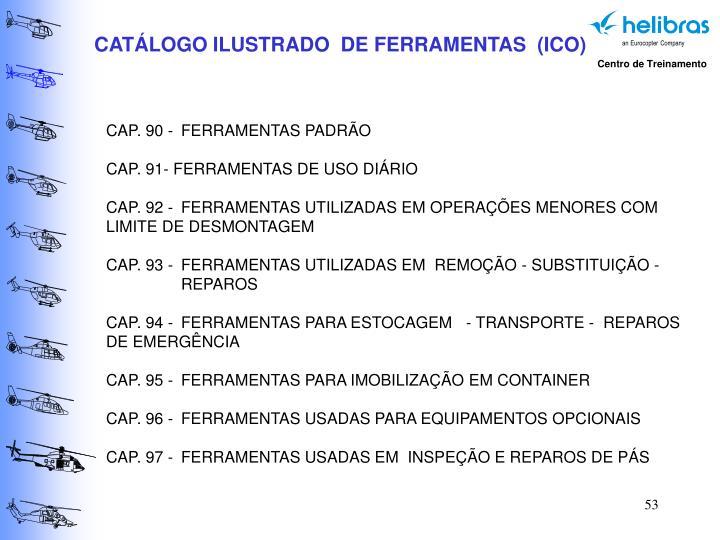 CATÁLOGO ILUSTRADO  DE FERRAMENTAS  (ICO)