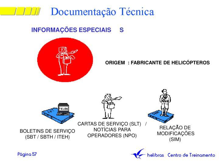 INFORMAÇÕES ESPECIAIS     S