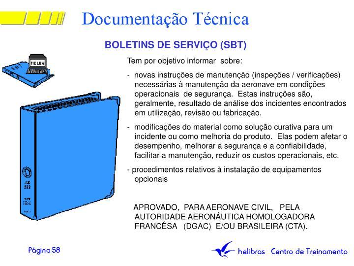 BOLETINS DE SERVIÇO (SBT)