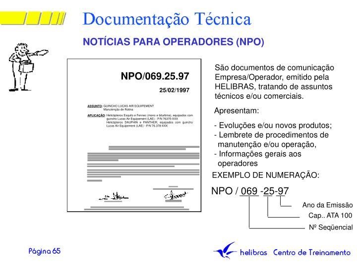 NOTÍCIAS PARA OPERADORES (NPO)