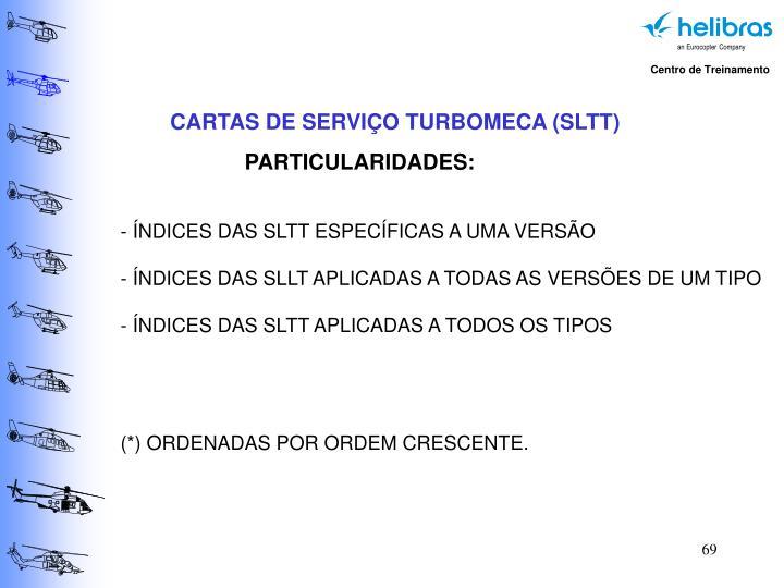 CARTAS DE SERVIÇO TURBOMECA (SLTT)