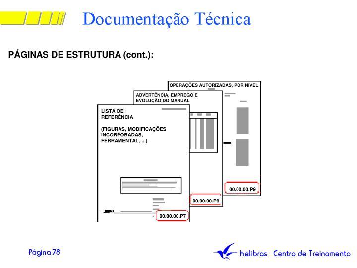PÁGINAS DE ESTRUTURA (cont.):