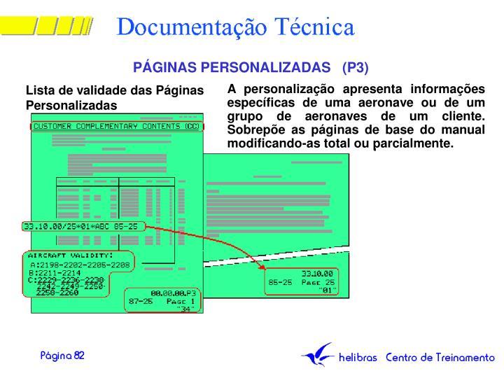 PÁGINAS PERSONALIZADAS   (P3)