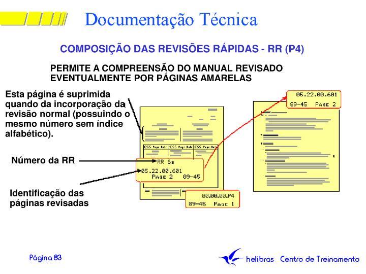 COMPOSIÇÃO DAS REVISÕES RÁPIDAS - RR (P4)