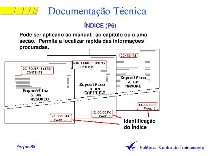 ÍNDICE (P6)