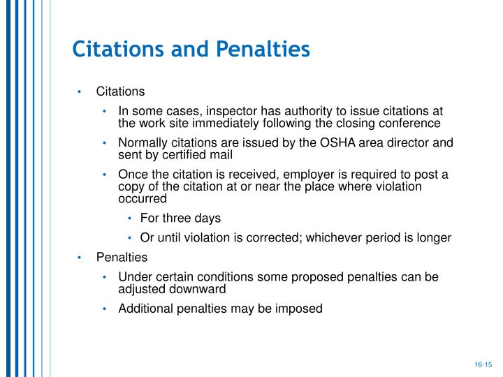 Citations and Penalties