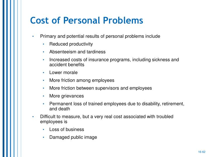 Cost of Personal Problems