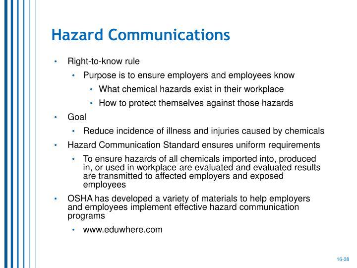 Hazard Communications