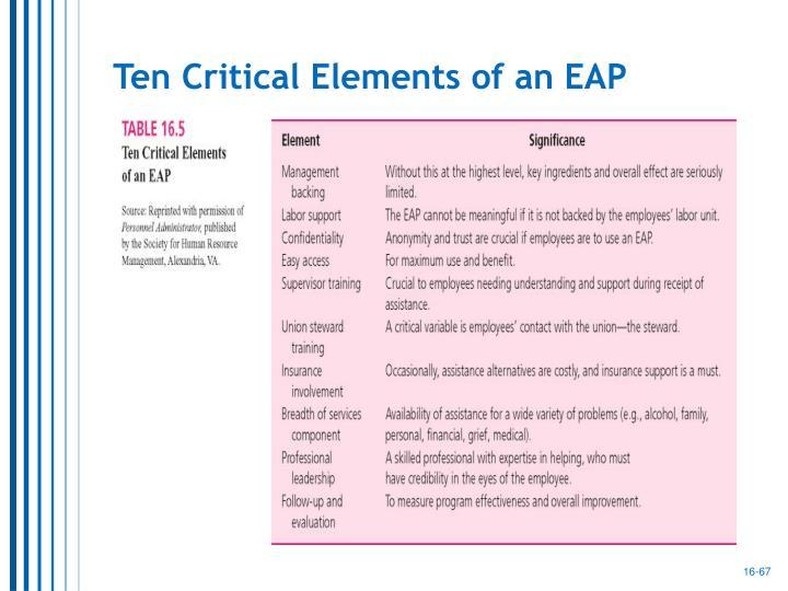 Ten Critical Elements of an EAP