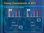 timing characteristic of sffs