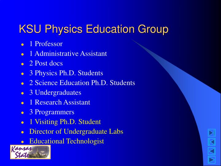 KSU Physics Education Group