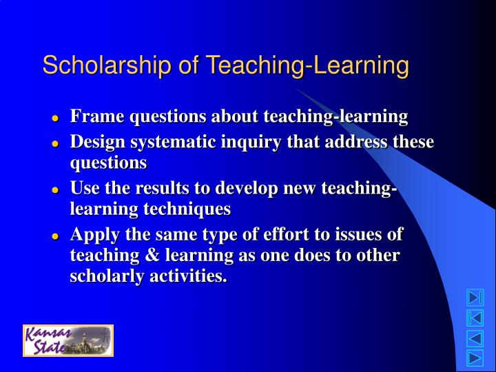 Scholarship of Teaching-Learning