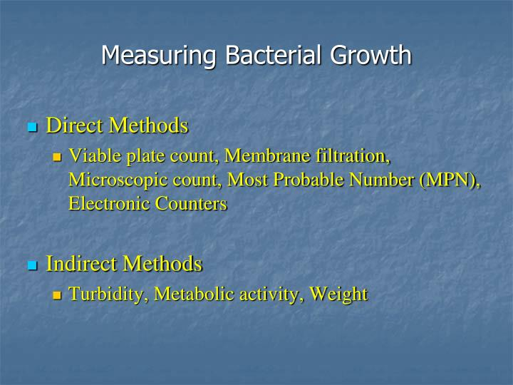 Measuring Bacterial Growth