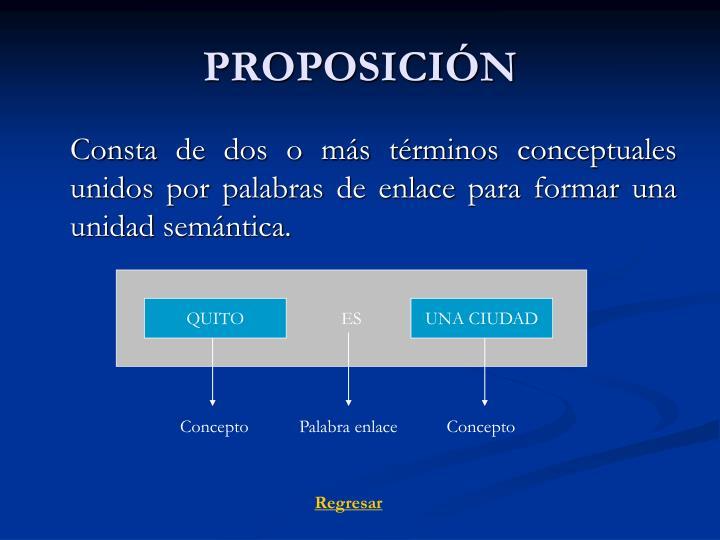 PROPOSICIÓN