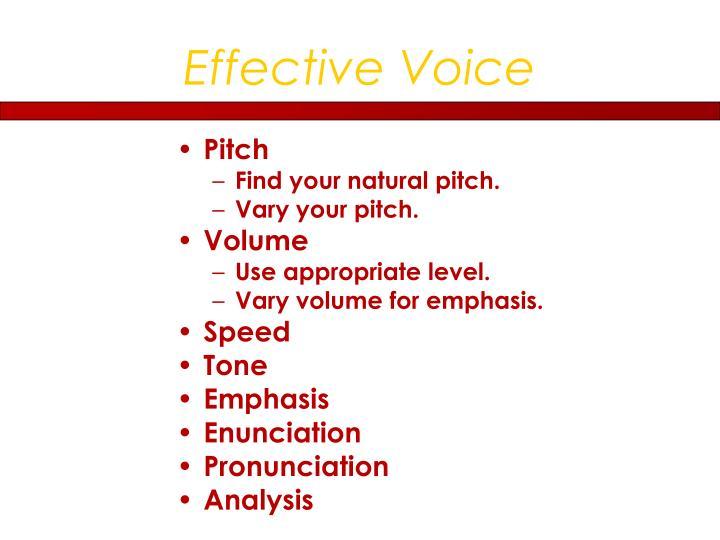 Effective Voice