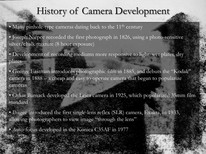 History of Camera Development