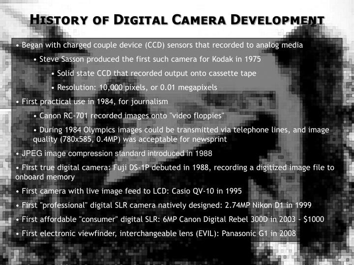 History of Digital Camera Development