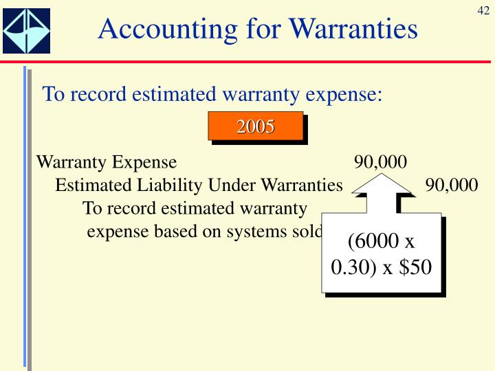 Accounting for Warranties
