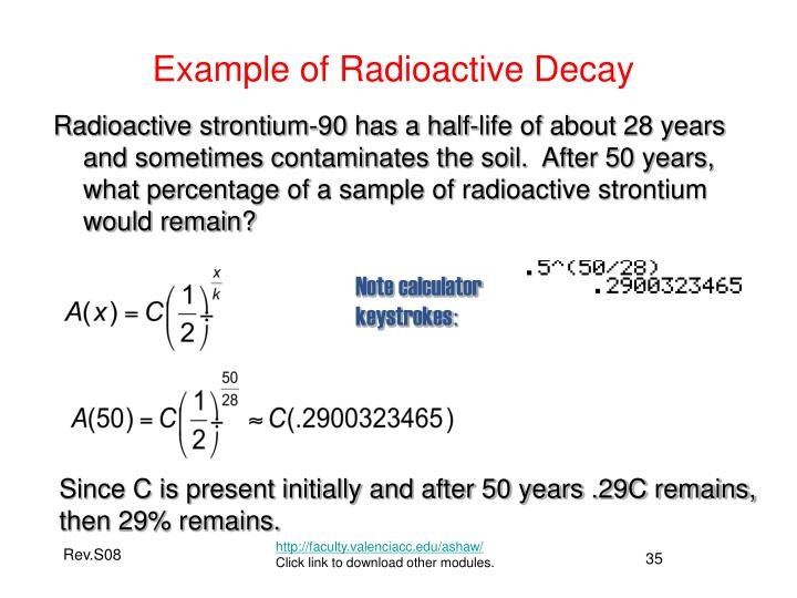 Example of Radioactive Decay