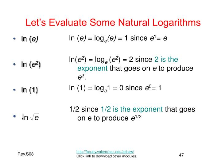 Let's Evaluate Some Natural Logarithms