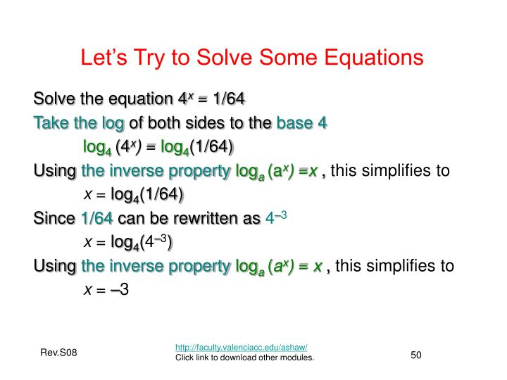 Let's Try to Solve Some Equations