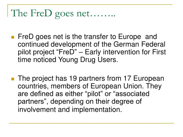 The FreD goes net……..