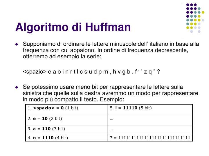Algoritmo di Huffman