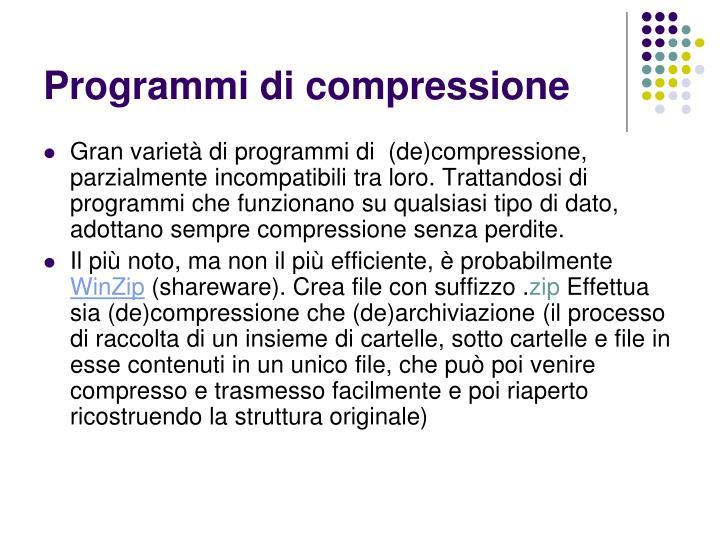 Programmi di compressione