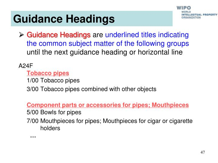 Guidance Headings