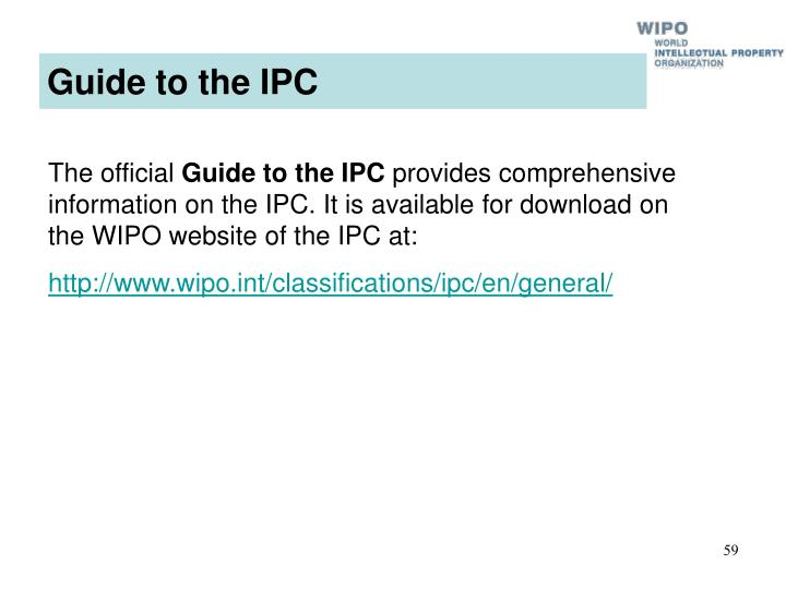 Guide to the IPC
