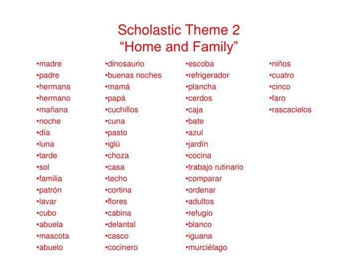 Scholastic Theme 2