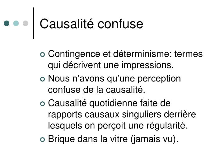 Causalité confuse