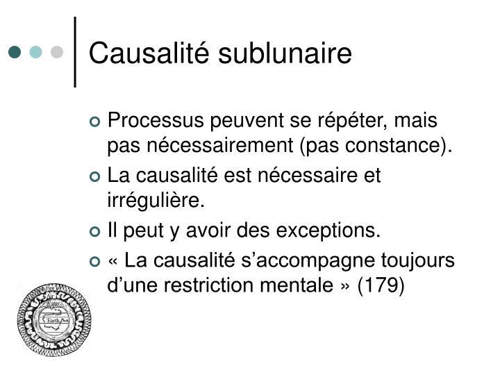 Causalité sublunaire