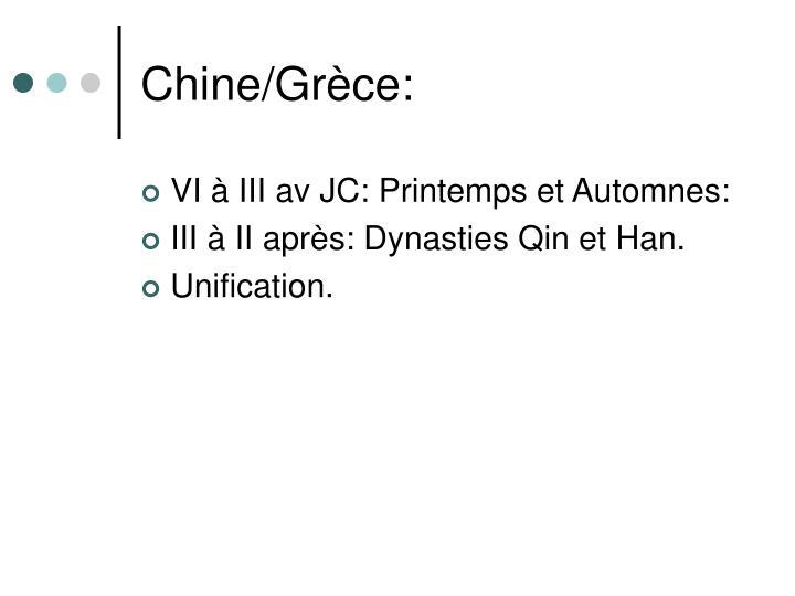 Chine/Grèce: