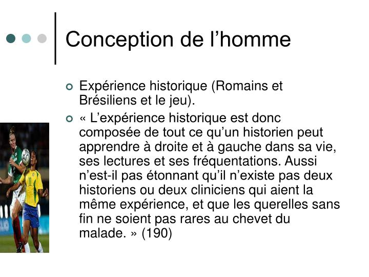 Conception de l'homme