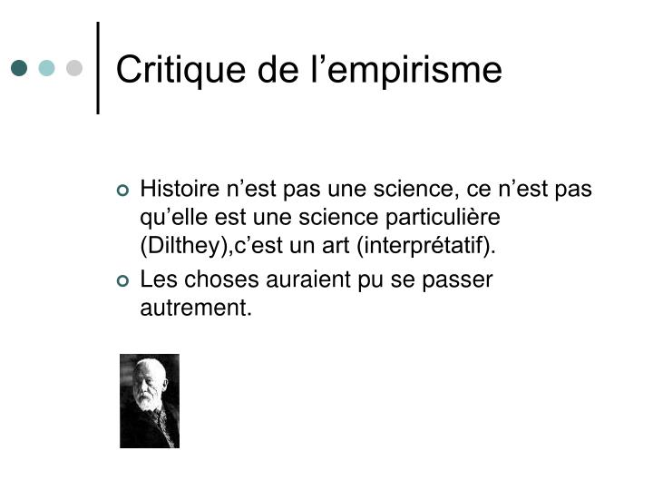 Critique de l'empirisme