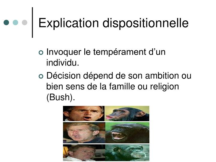 Explication dispositionnelle